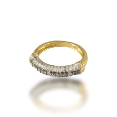 'אני לדודי ודודי לי' טבעת זהב 14 קראט ויהלומים