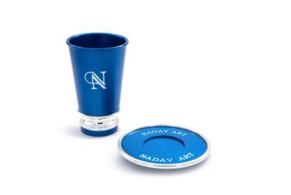 כוס קידוש וצלחת ממותגת