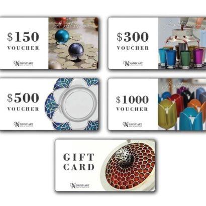 כרטיס מתנה (Gift Card) על כל המוצרים של נדב ארט